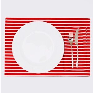 Kate Spade Placemats & Napkin Set 8 Red white